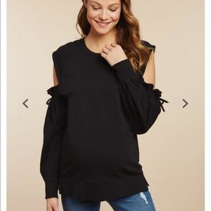 Jessica Simpson Distress Cold Shoulder sweatshirt